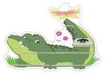 Regal für Musikbox - Krokodil im Gras 001