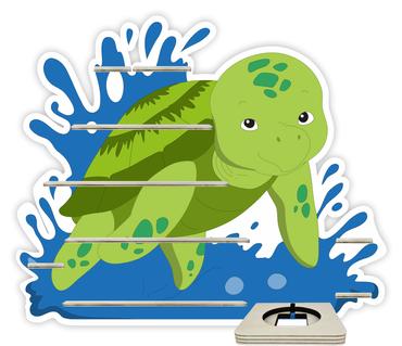 Regal für Musikbox - Schildkröte im Nass – Bild 1