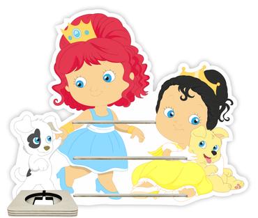 Regal für Musikbox - Prinzessinen mit Haustieren – Bild 1
