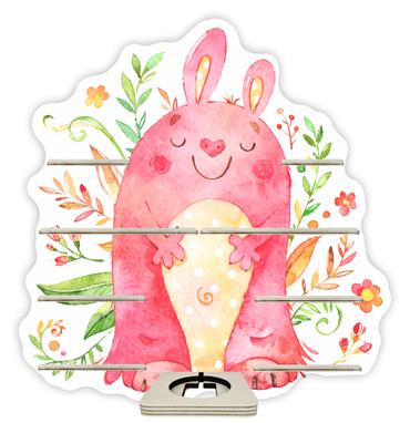 Regal für Musikbox - Kuschelmonster mit Blumen – Bild 1