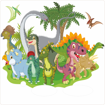 Folie für Musikbox - Dinowelt – Bild 1