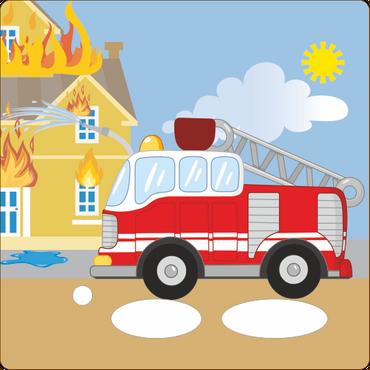 Folie für Musikbox - Feuerwehrbrand