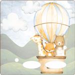 Folie für Musikbox - Heissluftballonfamilie 1 001