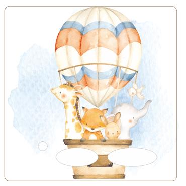 Folie für Musikbox - Heissluftballonfamilie 2 – Bild 1