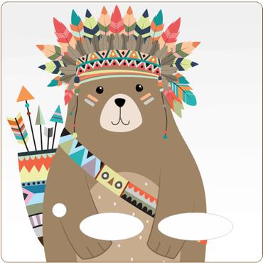 Folie für Musikbox - Indianerbärfolie