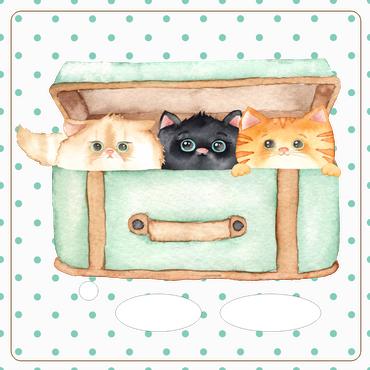 Folie für Musikbox - Katzenkorb 1