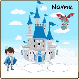 Folie für Musikbox - Prinzenschloß blau – Bild 2