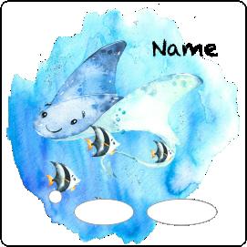 Folie für Musikbox - Unterwassermeer Rochen – Bild 2