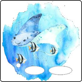 Folie für Musikbox - Unterwassermeer Rochen – Bild 1