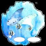 Folie für Musikbox - Unterwassermeer Rochen 001