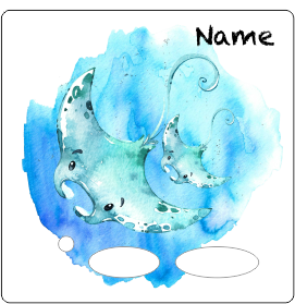 Folie für Musikbox - Unterwassermeer Rochen Familie – Bild 2