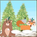 Folie für Musikbox - Waldindianer 2 001