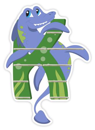 Regal für Musikbox - Alphabet Dinosaurier - K