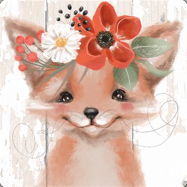 Folie für Musikbox - Fuchsmädchen – Bild 1