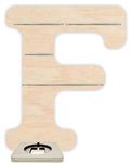 Regal für Musikbox - Alphabet F 001
