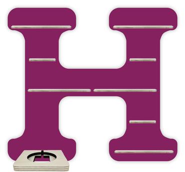 Regal für Musikbox - Alphabet H – Bild 2