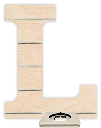 Regal für Musikbox - Alphabet L