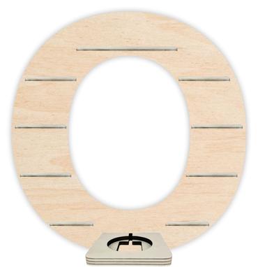 Regal für Musikbox - Alphabet O – Bild 1