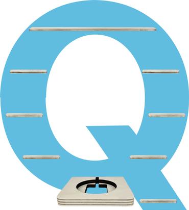 Regal für Musikbox - Alphabet Q – Bild 5