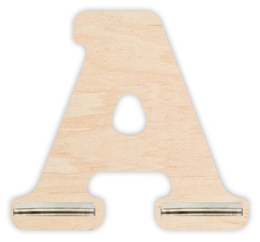 Regal für Musikbox - Mini Alphabet A