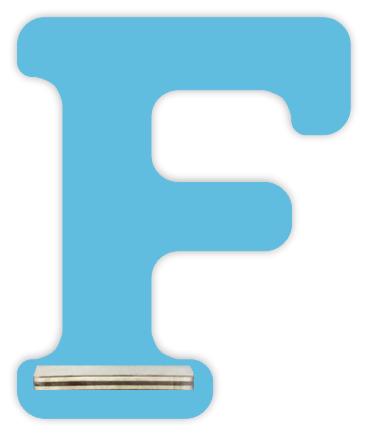 Regal für Musikbox - Mini Alphabet F – Bild 5