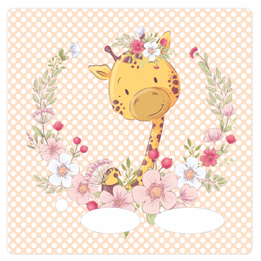 Folie für Musikbox - Giraffenblume – Bild 1