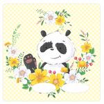 Folie für Musikbox - Pandablume 001