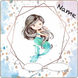 Folie für Musikbox - Oktagon blau lila Meerjungfrau – Bild 2