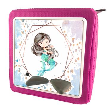 Folie für Musikbox - Oktagon blau lila Meerjungfrau – Bild 8