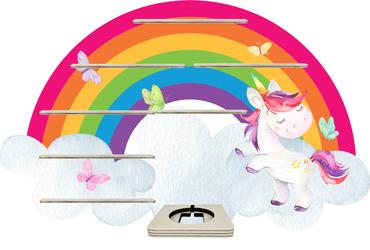 Regal für Musikbox - Regenbogeneinhorn Watercolor – Bild 1