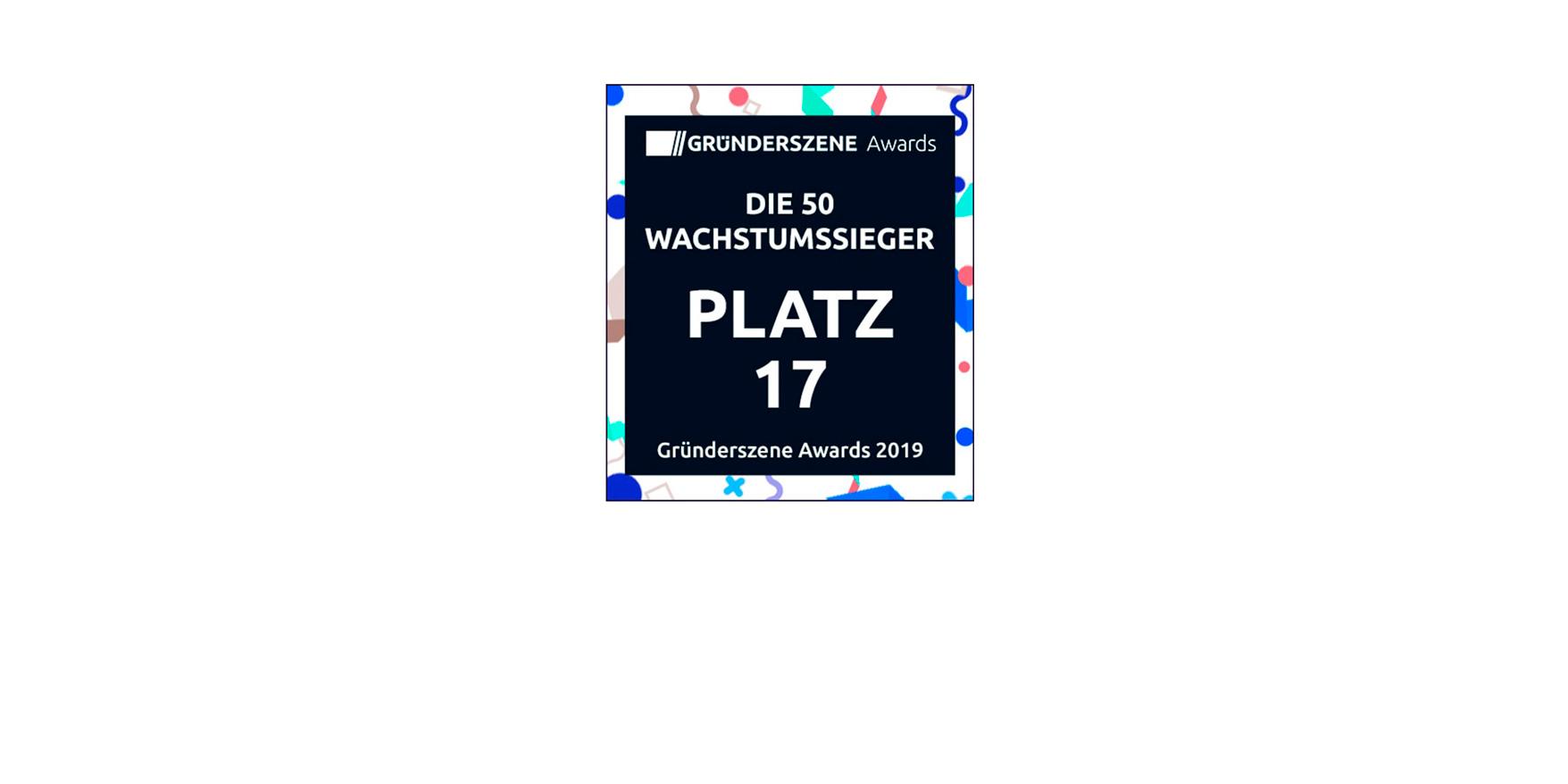 Platz 17 beim Gründerszene Awards