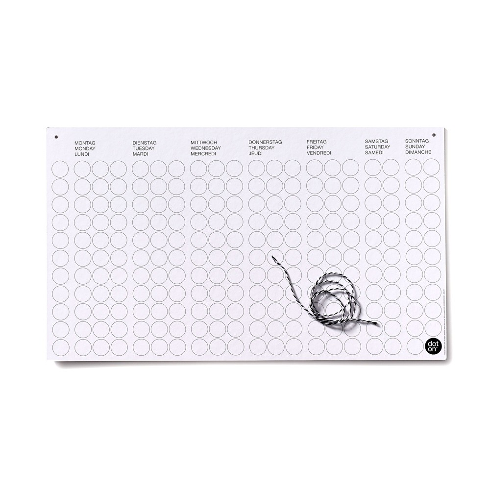 dot on week | weekly planner | cardboard – Image 4