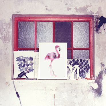 dot on art trend | flamingo