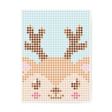 dot on art kids | reindeer