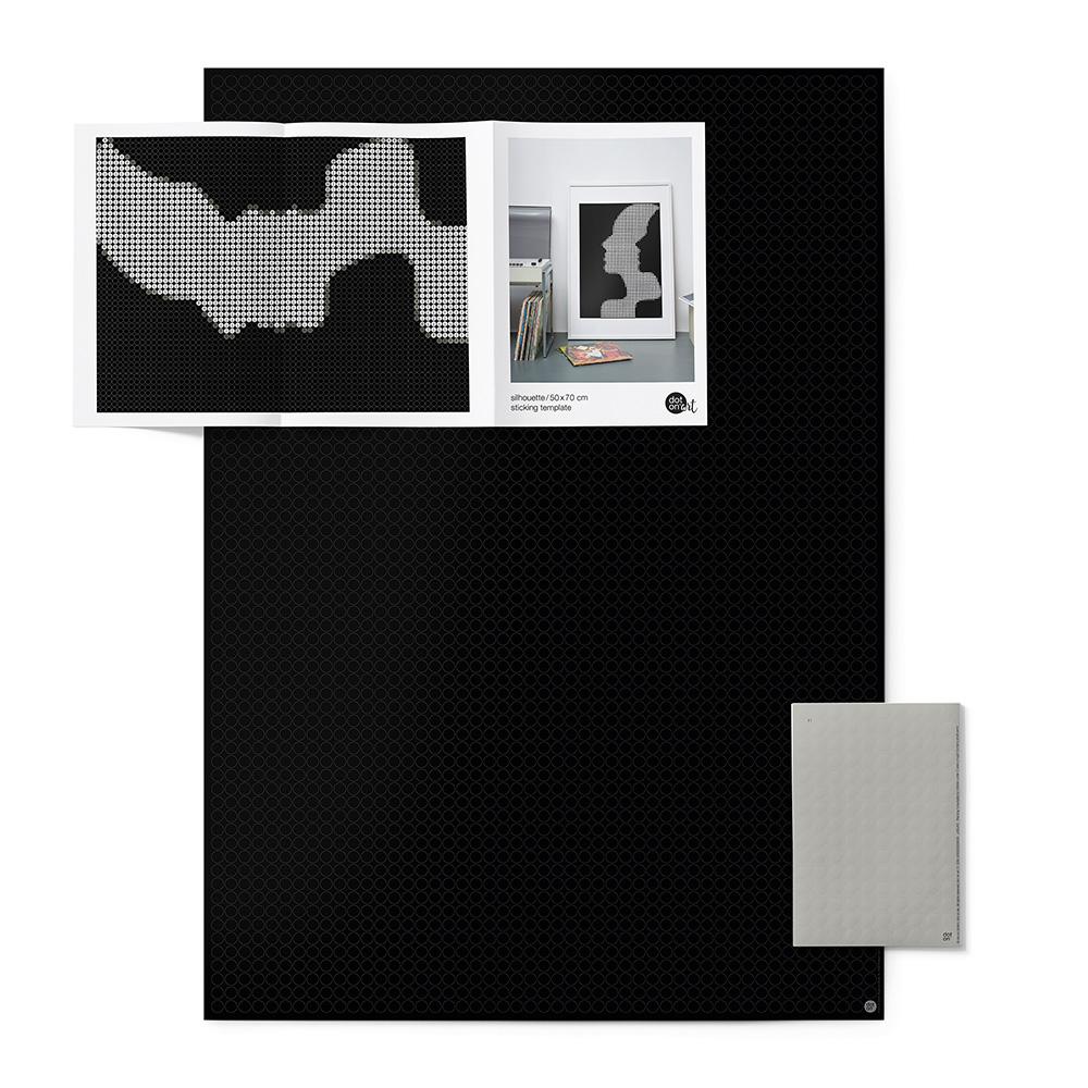 dot on art black&white | silhouette – Image 2