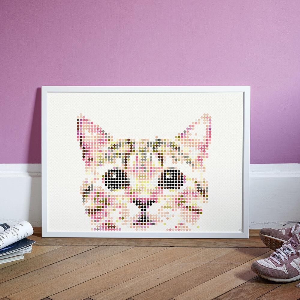 dot on art animals | cat – Bild 2