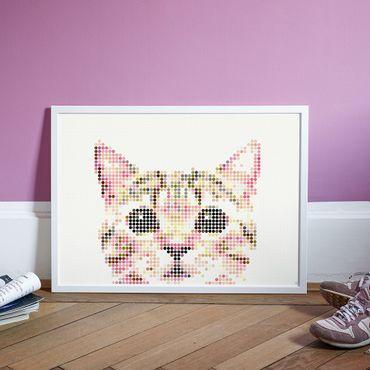 dot on art animals   cat – Bild 2