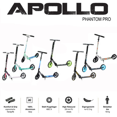 Apollo City Scooter - Phantom - Blue  – Bild 6