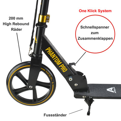 Apollo City Scooter - Phantom - Gold  – Bild 2