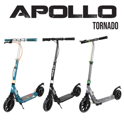 Apollo City Scooter - Tornado - Black/Silver  – Bild 6