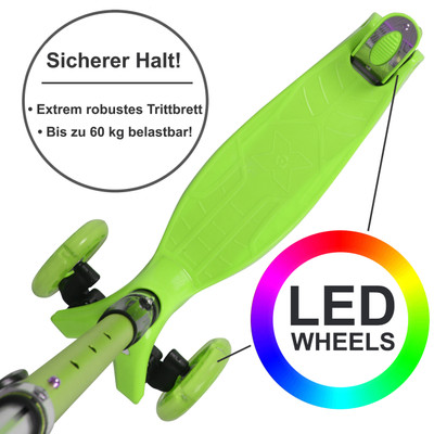 Apollo 3-Rad Kinderroller - Kids Whiz - Green  – Bild 3