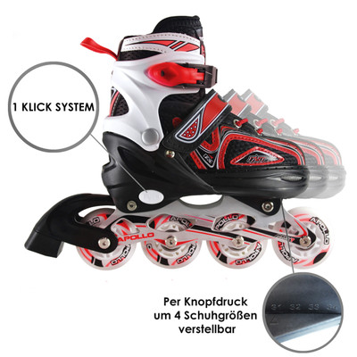 Apollo Inlineskate - Super Blade - Red - S  – Bild 2