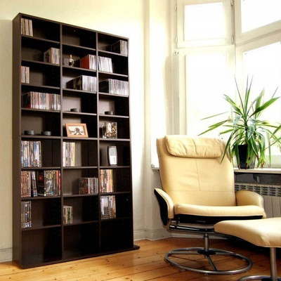 CD/DVD Regal espresso – Bild 1