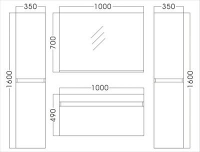 Badezimmer P1003 mahagoni – Bild 3