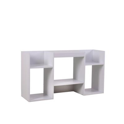 TV-Rack Fernsehtisch Standregal aus Holz 109x59x30 cm ~ weiss – Bild 1