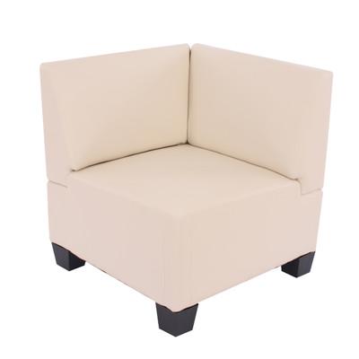 Modular Sofa-System Couch-Garnitur Lyon 6-1, Kunstleder ~ creme – Bild 6