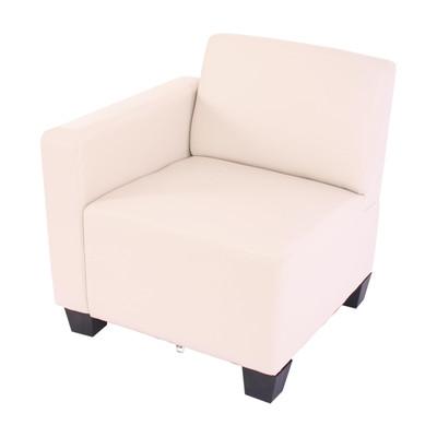 Modular 2-Sitzer Sofa Couch Lyon, Kunstleder ~ creme – Bild 4