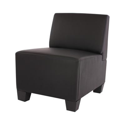 Modular Sessel ohne Armlehnen, Mittelteil Lyon, Kunstleder ~ schwarz – Bild 1