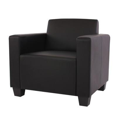 Sessel Loungesessel Lyon, Kunstleder ~ schwarz – Bild 1