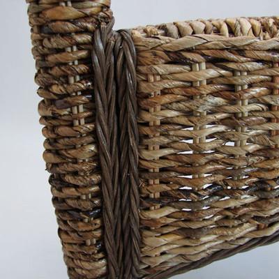 2x Esszimmerstuhl Korbstuhl M69 Stuhl BALI Bananengeflecht ~ dunkel, ohne Kissen – Bild 2